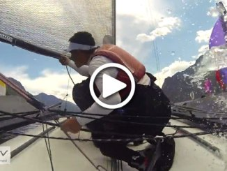 A screen grab of some action at the B14 worlds in Lake Garda, Italy