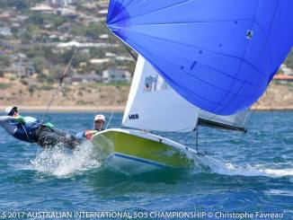 Daniel Keys and Daryl Roos in Intergalactic are sitting third overall after four races. Photos: Christophe Favreau.