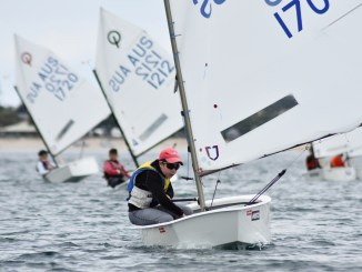 Ben Hinks will be tough to beat at the SA Optimist Frostbite. Photos: Down Under Sail