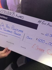 Business Award Cheque