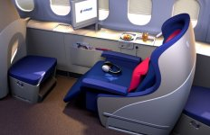 first class airline seat