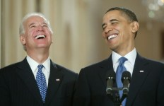 obama biden laughing