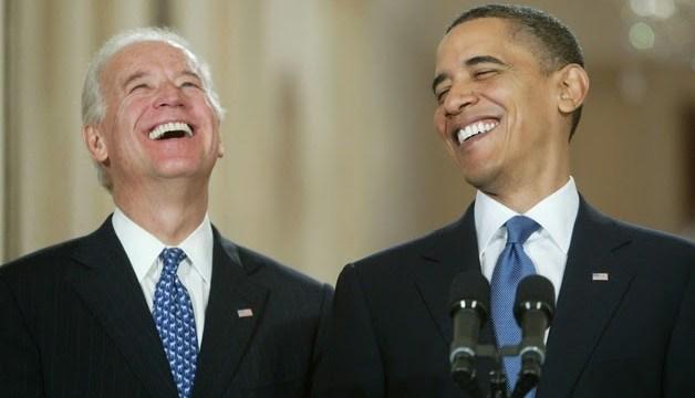 obama biden laughing