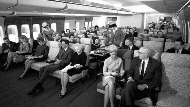 Pan Am economy class in the 60s