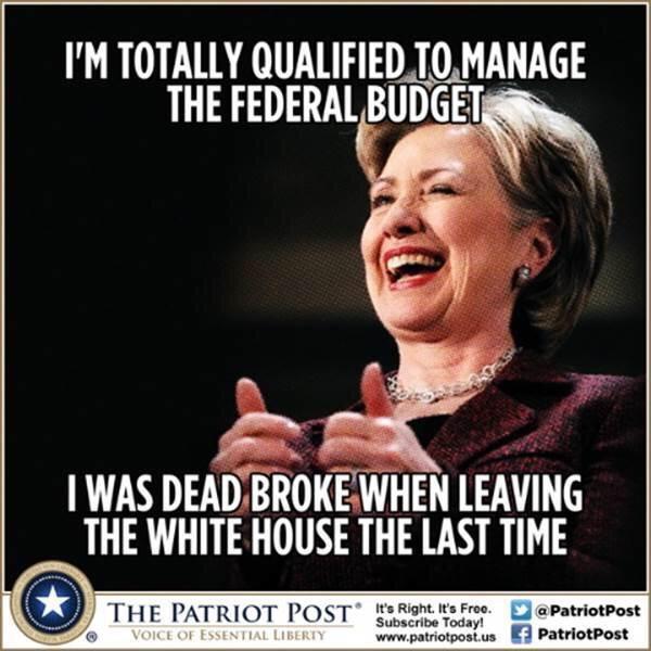 Hillary was broke