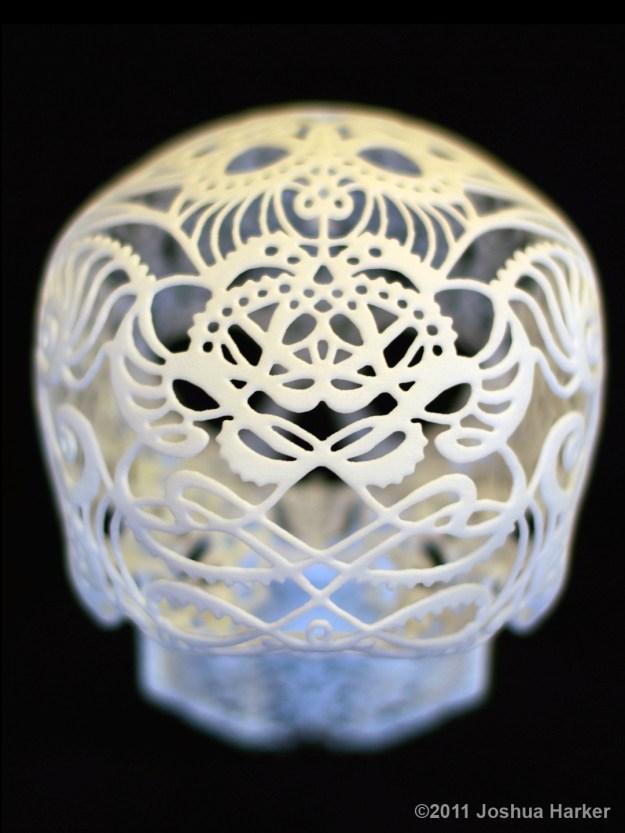 Crania Anatomica Filigre 3d printed skull: back