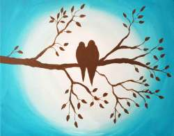 Groovy Birds On Branch Original Birds On Branch Silhouette On Storenvy Birds On A Branch Table Lamp Birds On A Branch Wall Art