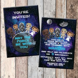 Flossy Star Wars Babies Demo Original Star Wars Babies Personalized Birthday Invitation Birthday Star Wars Party Backdrop Star Wars Party Printables Free