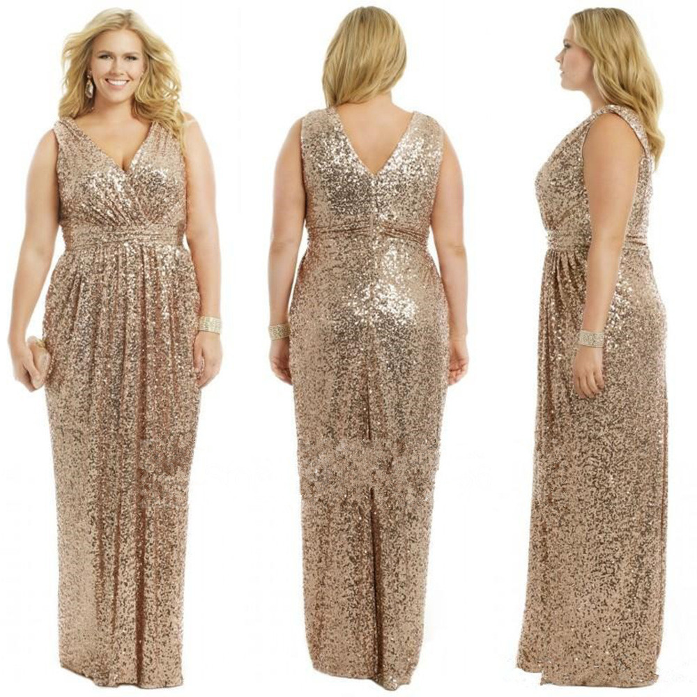 Encouraging Size Champagne Rose G Wedding Prom Long Gowns Size Champagne Rose Gbridesmaid Dress 2015 Sequins G Wedding Prom Long Gowns wedding dress Rose Gold Dresses