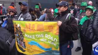 Make the Road at May Day rally 2015