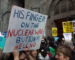 HIs finger on the nuclear war button?! Hell no!