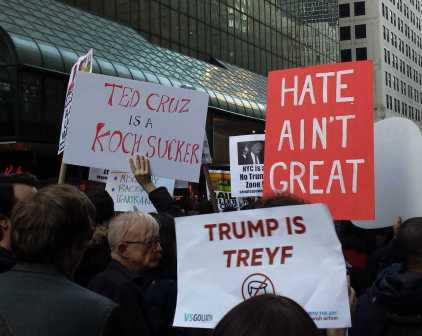 Ted Cruz is a Kock Sucker; Trump is Treyf; Hate ain't great