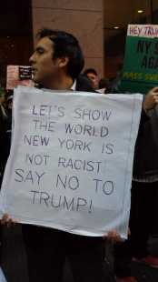 Let's show the world New York is not racist! Say no to Trump!