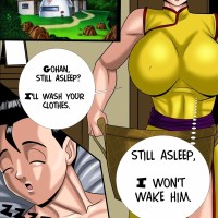 Dragonball Z - Mother Love: The view of big hard cock in the morning turns Chi-chi into horny slut!