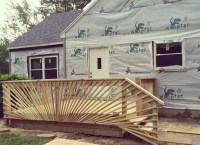 Lots of construction going on at my mom's house, but check out the awesome new deck!