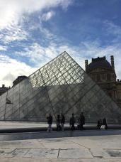 Main pyramid at the Louvre museum.