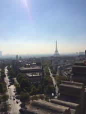 View over Paris from the Arc.