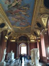 One of many epic ceilings in the Louvre.