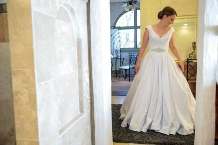 Into my dress.