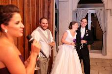 Maid of Honor (my sis) cracks us up with her toast.