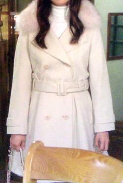 白いファーコート、素敵でした