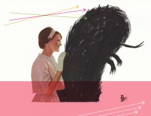 Collage Illustration / Love Hurts