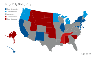 Gallup Finds Rightward Trend in the States