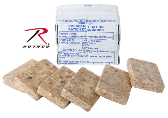 DATREX Coast Guard Approved Emergency Food Ration