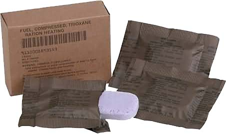 GI surplus Trioxane  Heat Tabs