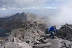 Rock-hopping up the ridge