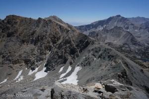 Ridge to Gould and Kearsarge Pass
