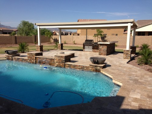 Serene S Pavers Small Backyard Landscape Ideas S Backyard Landscaping Ideas Arizona Landscape Outdoor Living At Phoenix Landscaping Outdoor