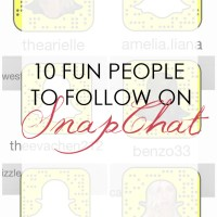 GET SOCIAL: 10 Fun People to Follow on SnapChat!