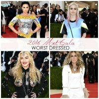 FASHION: Worst Dressed at the 2016 Met Gala