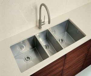 Triple Bowl Steel Sink