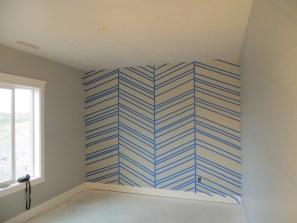 The finished herringbone pattern!!!