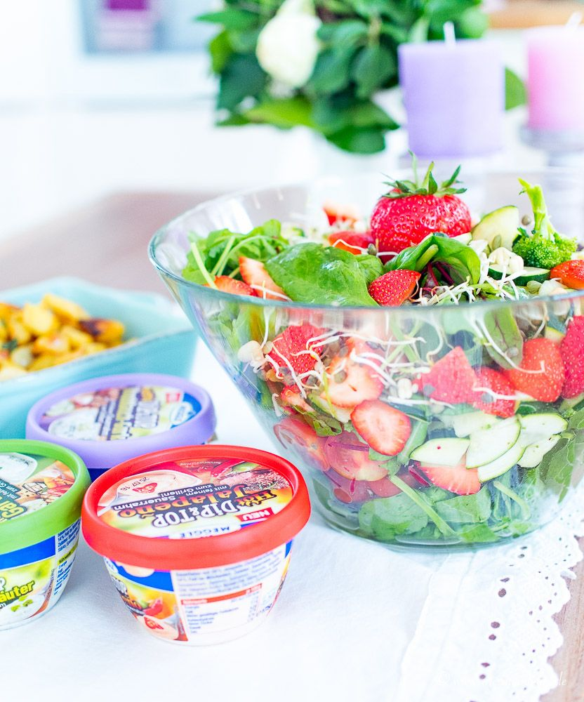vegetarischer Mädelsabend mit MEGGLE Dip&Top!
