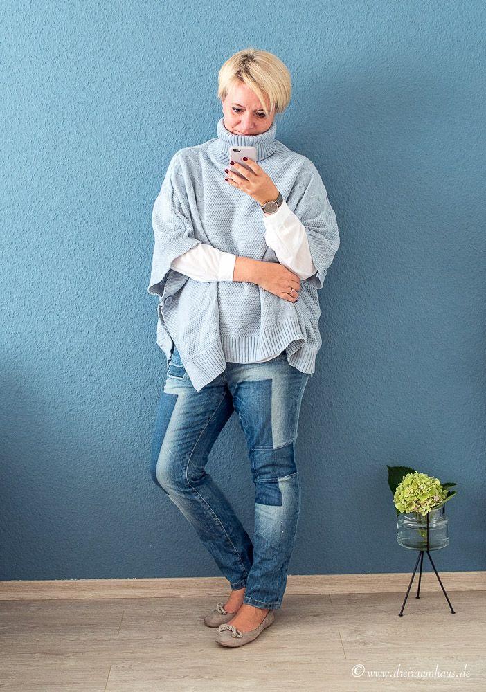 kein Herbst ohne Poncho...mein neuer Look von Lesara...
