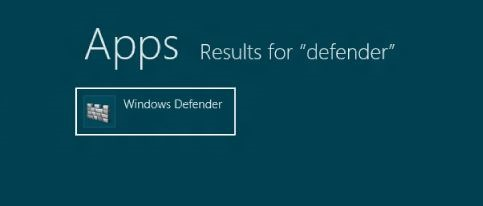 Activar Windows Defender en Windows 8