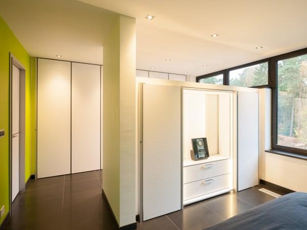 Inbouwkasten slaapkamer op maat modern interieur.