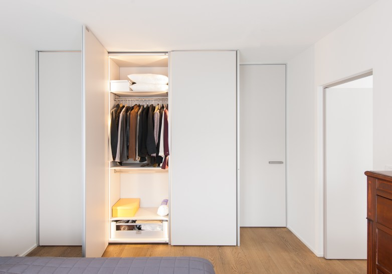 Inbouwkasten dressing met Anyway Doors kastdeuren