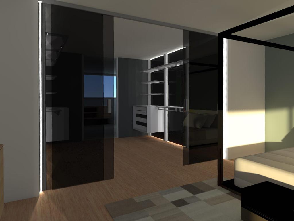 inloopkast slaapkamer naast met schuifdeuren