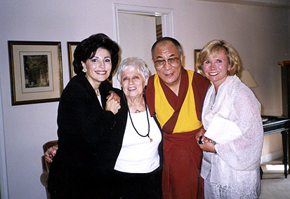 Dr. Gross, mom Ida, his holiness the Dalai Lama and Sharon Bush