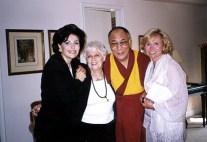 Dr. Gross, mom Ida, his holiness the Dalai Lama and Sharon Bush