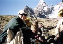 Dr. Gross at Saddle of Ausangate Peru