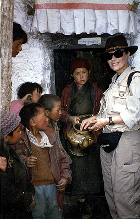 Dr. Gross trekking in Tibet