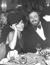 Dr. Gross and Luciano Pavarotti