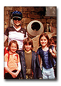 Dr. Gross with children in the Dordogne Valley in France