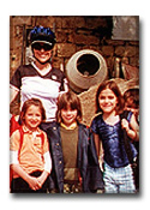 Dr. Gross with children in France