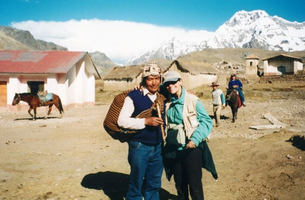 Dr. Gross with Shaman (with a Condor on his Back) in Peru